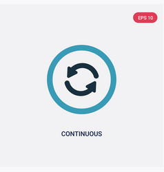 Two color continuous icon from user interface vector