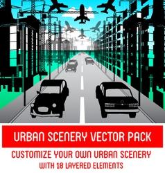 Urban scenery pack vector