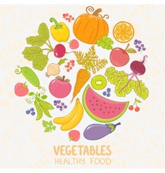 Vegetables fruit vector