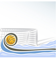 Water polo goal vector