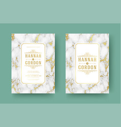 Wedding save the date invitation cards flourishes vector