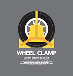 Wheel Clamp Side View vector image