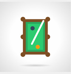 billiard entertainment flat color icon vector image