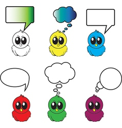 Birds with different bubbles for text vector image vector image