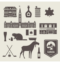 canada icons vector image vector image