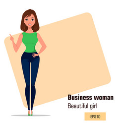 character beautiful business woman 21 vector image vector image