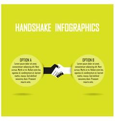 handshank infographics vector image