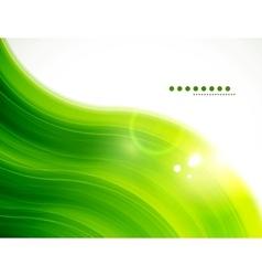 Light glittering green wave background vector image