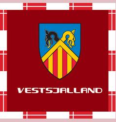 National ensigns of denmark - vestsjalland vector