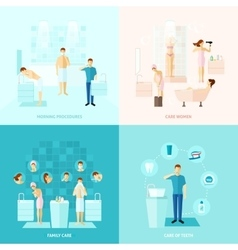 Personal And Family Care Icons Set vector image vector image