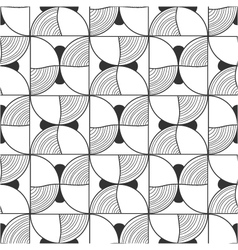 Seamless black and white abstract pattern vector image vector image