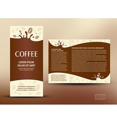 brochure folder card coffee liquid vector image vector image