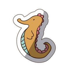 brown sea horse icon stock vector image vector image