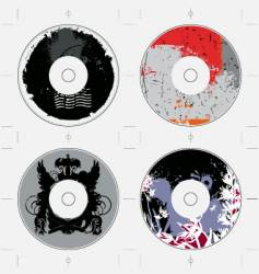 cd template grunge designs vector image vector image