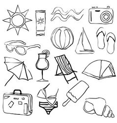 Doodle summer collection vector