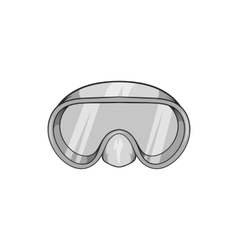 Goggles for diving icon black monochrome style vector image vector image