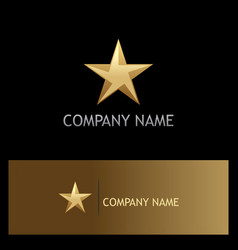 star 3d gold company logo vector image vector image