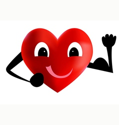 Strong heart vector image