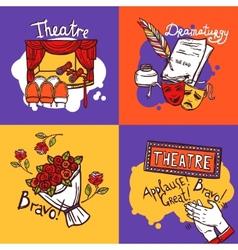 Theater design concept vector