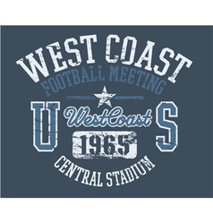 West Coast Athletics vector image