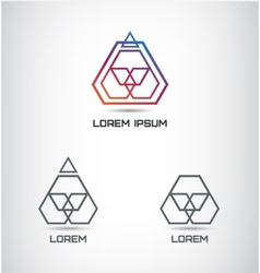abstract geometric polygon logo vector image vector image