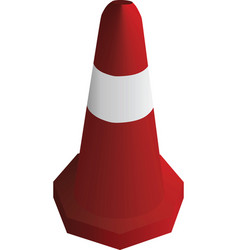 red traffic safety cone vector image