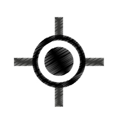 Rifle sight isolated icon vector image