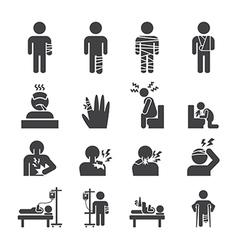 sick icon set vector image vector image