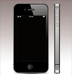 smartphone 4 vector image vector image