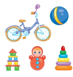 A set of children s toys vector