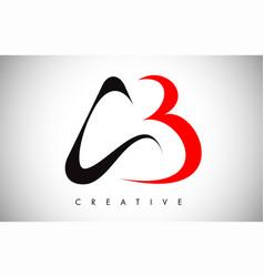 Ab swoosh letter modern trendy design logo letter vector