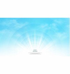 abstract of realistic sunshine on the sky vector image