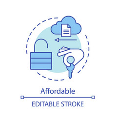 Affordable advantage concept icon vector