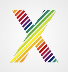 Alphabet Letter X vector