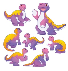 Apatosaurus purple vector