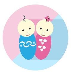 Baby Twin Flat icon vector image