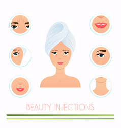 Beauty injections different types injections vector