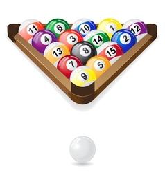 Billiard balls 02 vector