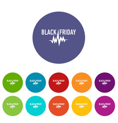 black friday pulse icon simple style vector image