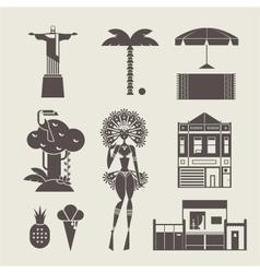 Brazillian icons vector image