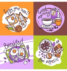 Breakfast Design Concept vector