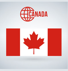 canada flag isolated on modern background with vector image