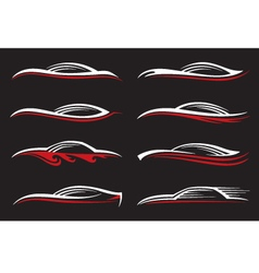 car icons set vector image vector image