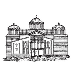 Church of our lady byzantium istanbul vintage vector