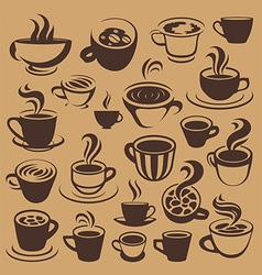 Coffee elements or logos vector