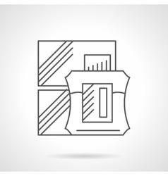 Cologne sale flat line icon vector image