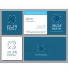 Creative business card template with 3d vector