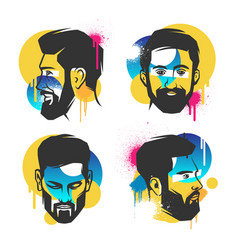 Creative concepts of a face vector