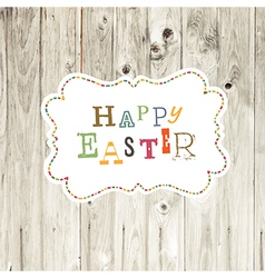 easter card wooden backdrop vector image