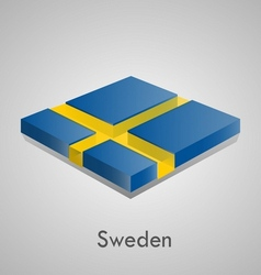 European flags set - Sweden vector image